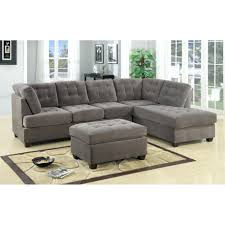Microfiber Storage Ottoman Chaise Sectional Sofa Group With Right Chaise Lounge Double