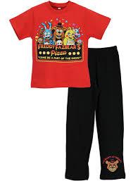 character boys five nights at freddy s pajamas size