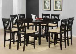 counter height gathering table 9 piece counter height gathering table w wine rack dining set