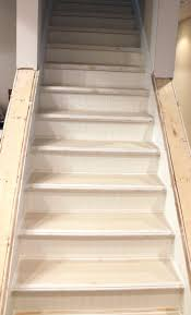 my enroute life ugly basement stairs update with beadboard and