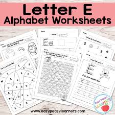 letter e worksheets alphabet series easy peasy learners