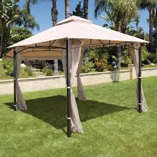 hampton bay 10 ft x 10 ft solar led lighted gazebo gfs00679b