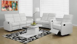 White Reclining Sofa Leather Reclining Sofa And Loveseat Sets Sofafurniture Info
