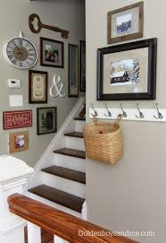 How High To Hang Art Best 25 Stairway Wall Decorating Ideas On Pinterest Stair Decor