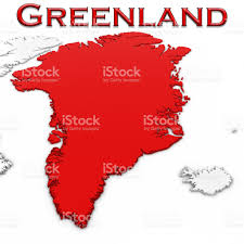 Greenland World Map by 3d Map Of Greenland With Country Name Highlighted Red On White