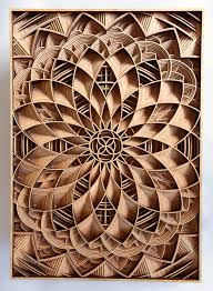 how an artist created these detailed wooden pieces is fascinating