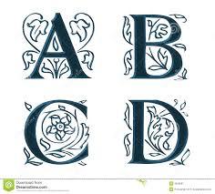 ornam letters w leaves 1 stock illustration image of letters