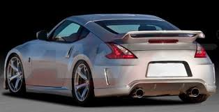 nissan 370z tail lights nissan 370z coupe racing style factory flush no light spoiler 2009