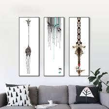 Nordic Home Decor Compare Prices On White Giraffe Wall Painting Online Shopping Buy