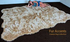 Faux Fur Sheepskin Rug Amazon Com Fur Accents Faux Fur Shag Area Rug Plush Fake
