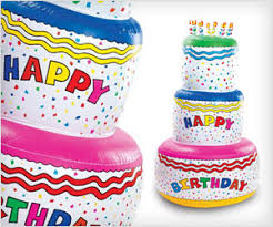 big size inflatable birthday cake party decoration