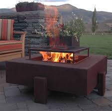 Contemporary Firepit Square Patio Pit Contemporary Patio San Francisco By