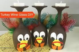 easy turkey wine glass decor hometalk
