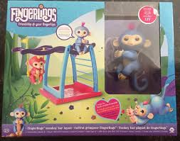 wowwee fingerlings monkey bar swing playground playset picxania com