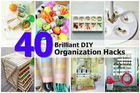 Organizatoin Hacks 40 Creative U0026 Brilliant Diy Organization Hacks Find Fun Art