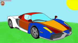 coloring book sport cars ferrari coloring with music cartoon
