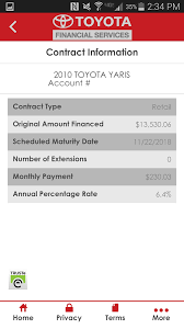 toyota financial car payment mytfs toyota financial android apps on play
