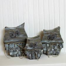rustic owl home decor trio project by decoart