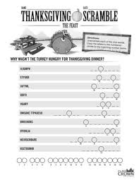 thanksgiving word scramble puzzle the feast by classcrown tpt