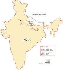 Varanasi India Map by Map Loc Jpg