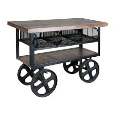 Industrial Kitchen Cart by Details About 47