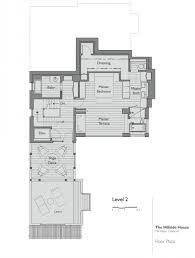 Modern Hillside House Plans First Floor Plan For Contemporary Hillside House Nestled On The