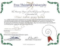diploma samples certificates free thinker university sample certificate by stacy poulos 2001