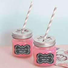 personalized baby shower favors chalkboard baby shower personalized jar glasses