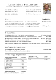 Sample Resume Doc by Swearingen Mark Cv Doc