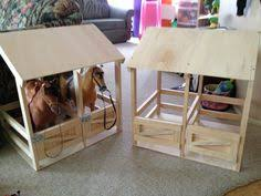 wooden handmade toy horse stable for 19 20