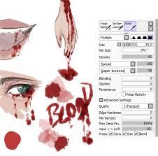 paint tool sai blood brush by kwaemul on deviantart