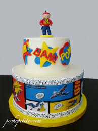 Decorative Cakes Atlanta Superhero Cakes Peche Petite