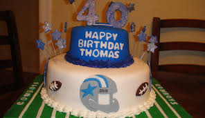 completely sugar free cake and icing dallas cowboy birthday cake