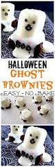 easy halloween brownies with ghosts must have mom