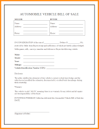 Copy Of Bill Of Sale For Car by 6 Vehicle Deposit Form Budget Template Letter Sale Receipt Format