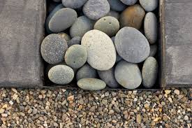 Pea Gravel Front Yard - pebble junction landscape modern with atlanta entryway front yard