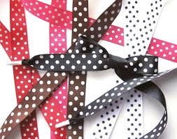 polka dot grosgrain ribbon all about shoelaces polka dot grosgrain ribbon shoelaces