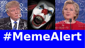 Creepy Clown Meme - trump vs hilary debate creepy clown sightings rare pepes
