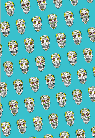 skull wrapping paper sugar skull wrapping paper 20x29 inches ladybug press