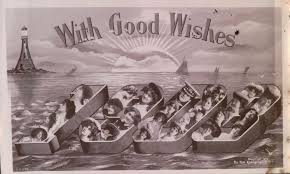 new year s postcards i m wishing you a happy new year early with women in watery