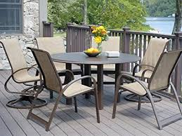 amazon com telescope casual primera sling dining set outdoor and
