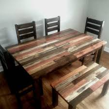 perfect decoration reclaimed dining room table chic