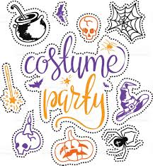 word halloween background costume party background stock vector art 613886862 istock