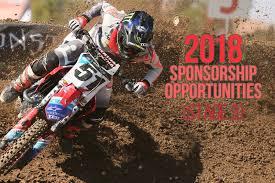 Atv Sponsorship Resume 2018 Sponsorship Season Opportunities Stage 3 Motocross Feature