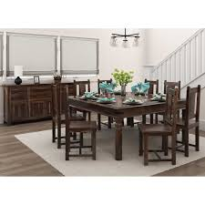 custom built dining room tables handcrafted rustic solid wood 10 piece dining collection