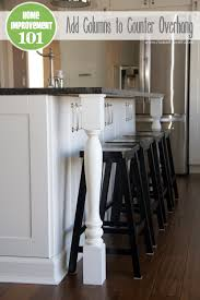 how do you attach island cabinets to the floor home improvement adding column supports to counter overhang