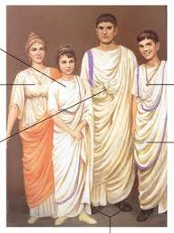 the common sleeved tunic worn by roman women was similar to the