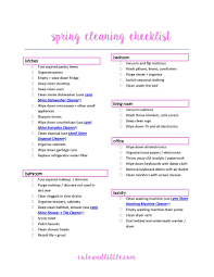 spring cleaning checklist best cleaning products cute u0026 little