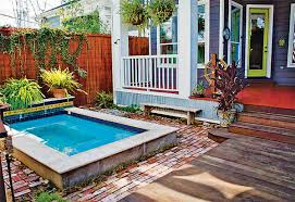 Mini Pools For Small Backyards by Cottage Backyard Small Pool Spa Pool Spool Pinterest Small