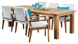 6 seater outdoor dining table teak outdoor dining sets colibri white 6 seater recycled teak